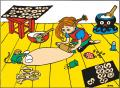 Placemats Pippi Longstocking bakes gingerbread