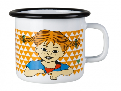 Enamel mug Here comes Pippi - 2,5 dl in the group Characters  / Pippi Longstocking at Astrid Lindgrens Värld (6416114958450)