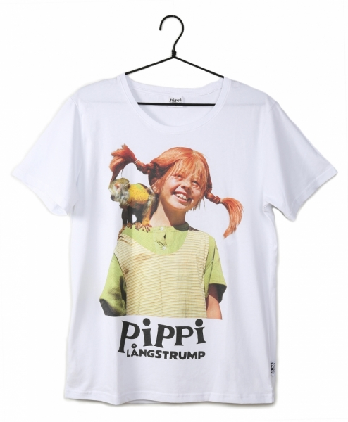 T-shirt Pippi with Mr Nilsson - Kids in the group Clothes / T-shirt / Tops at Astrid Lindgrens Värld (73096086)