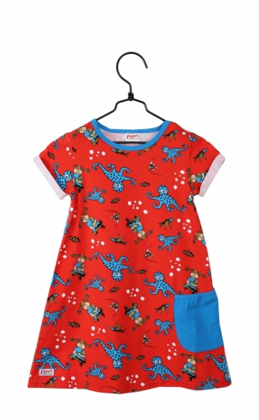 Tunic Pippi octopus red in the group Tip / Sale at Astrid Lindgrens Värld (73096418)