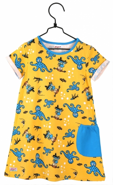 Tunic Pippi - Octopus Yellow in the group Tip / Sale at Astrid Lindgrens Värld (73096419)