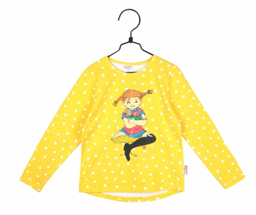 Sweatshirt Pippi yellow spotted in the group Clothes / New arrivals at Astrid Lindgrens Värld (73096599)