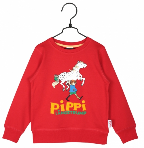 Pippi Longstocking sweatshirt red in the group Clothes / New arrivals at Astrid Lindgrens Värld (73096958)