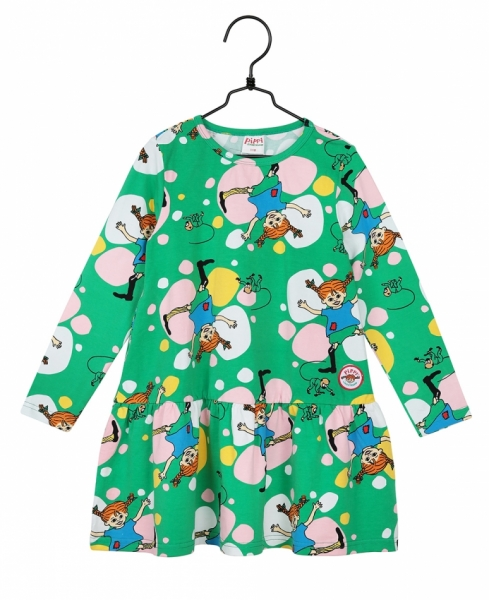 Dress Pippi Longstocking - Green in the group Clothes / New arrivals at Astrid Lindgrens Värld (73097081)