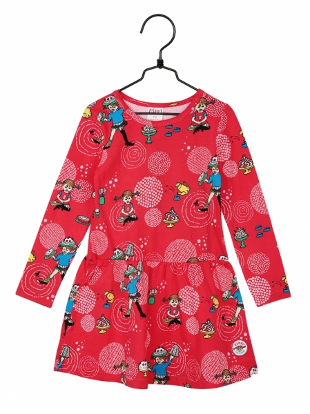 Dress Pippi Longstocking - Red in the group Clothes / New arrivals at Astrid Lindgrens Värld (73097095)
