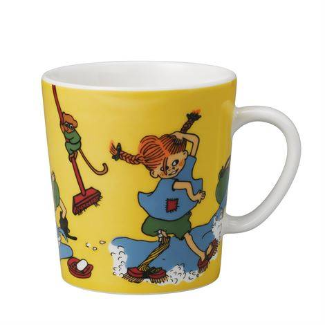 Mug Pippi by herself, 300 ml in the group Characters  / Pippi Longstocking at Astrid Lindgrens Värld (7320062101013)