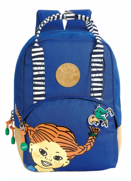 Retro backpack Pippi - Navy in the group Tip / Christmaspresents at Astrid Lindgrens Värld (7340076058547)
