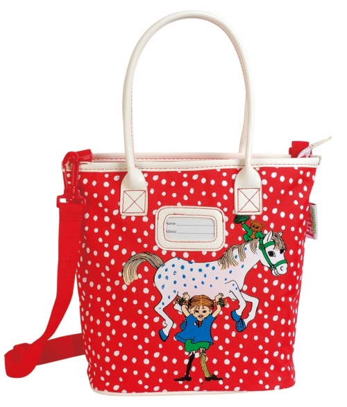 Workbag Pippi Longstocking Red in the group Toys / Backpacks / Luggage at Astrid Lindgrens Värld (7340076058615)