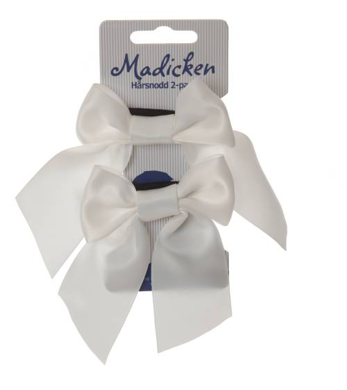 Hair ties with bows, white 2-pack in the group Clothes / Accessories / Accessory characters at Astrid Lindgrens Värld (7340089406670)