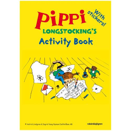Activity Book Pippi Longstocking  in the group Books  / More languages / English at Astrid Lindgrens Värld (9789129688108)