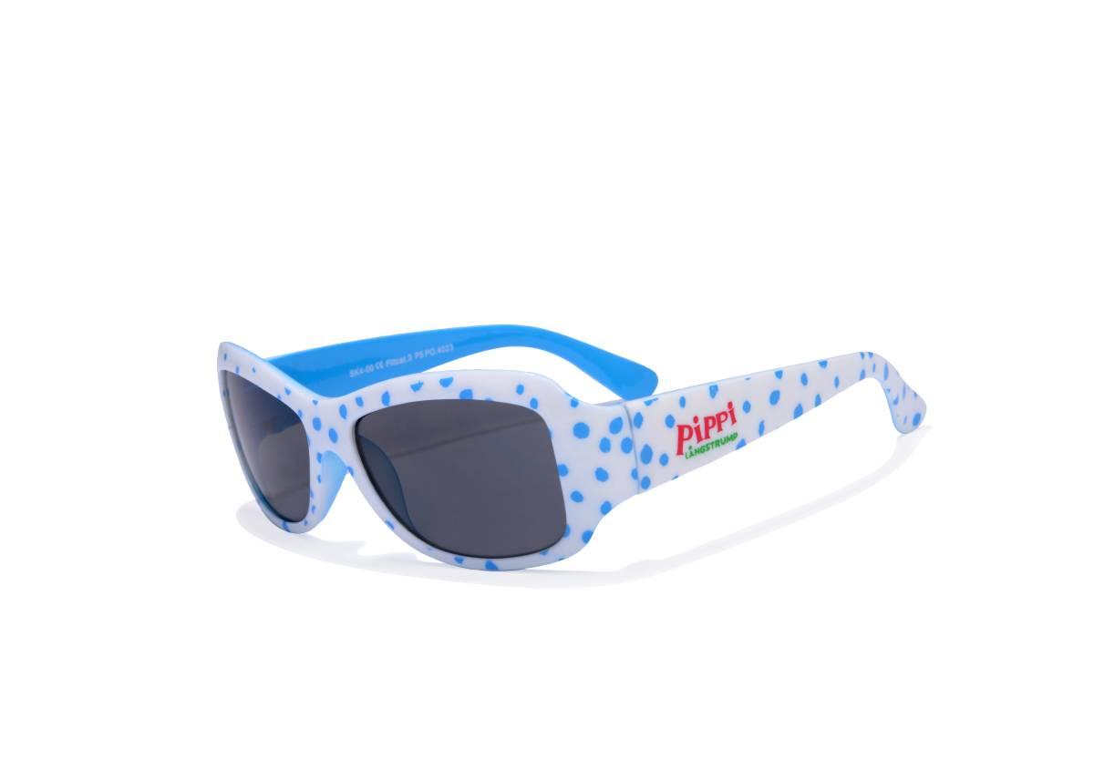 Sunglasses Pippi, white with blue dots